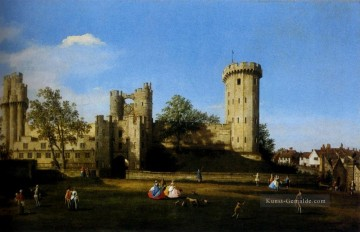 The Eastern Facade Of Warwick Castle Canaletto Ölgemälde